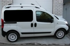 Рейлинги для Fiat Fiorino Qubo '08-, серый, пласт. концевик ABS (DDTS)