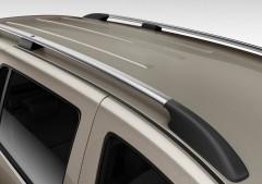 Рейлинги для Hyundai H-1 '97-07, длинная база, хром, пласт. концевик ABS, крепление на клей (DDTS)