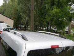 Рейлинги для Fiat Scudo '07-16, короткая база, хром, пласт. концевик ABS (DDTS)