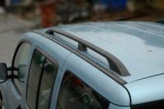 Рейлинги для Peugeot Expert '96-07, короткая база, серый, пласт. концевик ABS (DDTS)