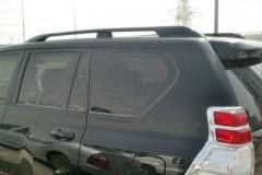 Рейлинги для Toyota LC Prado 150 '10-13, черные, усиленные, метал. концевик (AVTM)