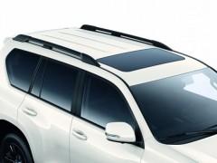 Рейлинги для Toyota LC Prado 150 '13-, черные, усиленные, метал. концевик (AVTM)