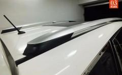 Рейлинги для Toyota RAV4 2013-, серые, тип OEM, метал. концевик (AVTM)