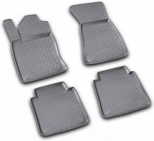Коврики в салон для Audi A8 '03-10 Long, полиуретановые, черные (Novline)