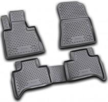 Коврики в салон для BMW X5 E53 '00-07 полиуретановые, черные (Novline)