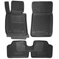 Коврики в салон для BMW 3 E90 '05-11 резиновые, черные (AVTO-Gumm)