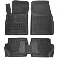 Коврики в салон для Ford Fiesta '18- резиновые, черные (AVTO-Gumm)