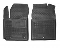 Коврики в салон передние для Kia Picanto '17- резиновые, черные (AVTO-Gumm)