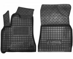 Коврики в салон передние для Peugeot Partner '10- 1+2 резиновые, черные (AVTO-Gumm)
