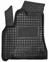 Коврик в салон водительский для Peugeot Partner '10- 1+2 резиновый, черный (AVTO-Gumm)