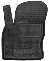 Коврик в салон водительский для Skoda Karoq '18- резиновый, черный (AVTO-Gumm)