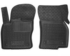 Коврики в салон передние для Skoda Karoq '18- резиновые, черные (AVTO-Gumm)
