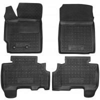 Коврики в салон для Toyota Yaris '06-10 резиновые, черные (AVTO-Gumm)
