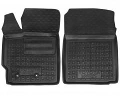 Коврики в салон передние для Toyota Yaris '06-10 резиновые, черные (AVTO-Gumm)