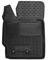 Коврик в салон водительский для Toyota Yaris '06-10 резиновый, черный (AVTO-Gumm)
