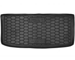 Коврик в багажник для Kia Picanto '17- верхний, резиновый (AVTO-Gumm)