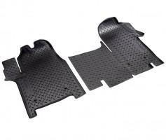 Коврики в салон для Opel Movano '11-, полиуретановые, черные (Nor-Plast)