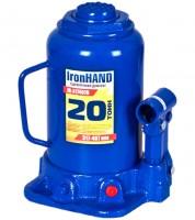 Домкрат автомобильный гидравлический бутылочный 20 т. IH-317407D (Витол)