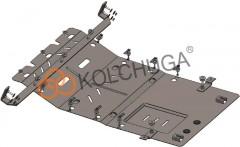 Защита двигателя и КПП, радиатора для Citroen Jumper '14-, V-2,2HDI (Кольчуга) Zipoflex