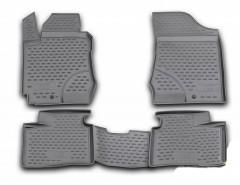 Коврики в салон для Hyundai i30 FD '07-12 полиуретановые, серые (Novline / Element)
