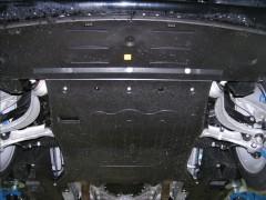 Фото 2 - Защита двигателя и радиатора для Jaguar XJ6 '03-09, V-3,5, АКПП (Кольчуга) Zipoflex