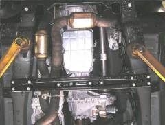 Фото 2 - Защита двигателя и КПП, радиатора, редуктора для Jeep Commander '06-10, V-3,0CRD, АКПП (Кольчуга) Zipoflex