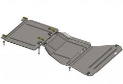 Фото 1 - Защита двигателя и КПП, раздатки для Jeep Grand Cherokee '13-, V-6,4, АКПП (Кольчуга) Zipoflex