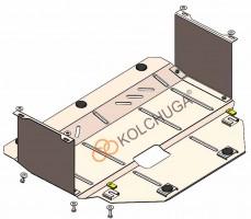 Фото 1 - Защита двигателя и КПП, радиатора для Kia Picanto '17-, V-1,0; 1,2, АКПП, МКПП (Кольчуга) Zipoflex