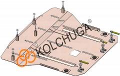 Фото 1 - Защита двигателя и КПП, радиатора для Kia Stonic '18-, V-1,4i, МКПП (Кольчуга) Zipoflex