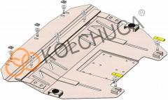 Фото 1 - Защита двигателя и КПП, радиатора для Mini Cooper '11-14, V-2,0D, АКПП, 4x4 (Кольчуга) Zipoflex