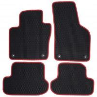 Фото 2 - Коврики в салон для Volkswagen Beetle '12-, EVA-полимерные, черные с красным кантом (Kinetic)