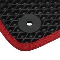 Фото 6 - Коврики в салон для Volkswagen Beetle '12-, EVA-полимерные, черные с красным кантом (Kinetic)