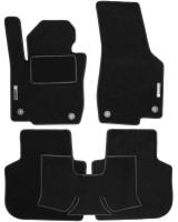 Коврики в салон для Volkswagen Passat USA 2011-2019 текстильные, черные (Стандарт)