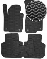 Коврики в салон для Volkswagen Passat USA 2011-2019, EVA-полимерные, черные (Kinetic)