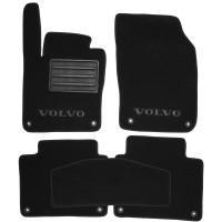 Коврики в салон для Volvo S90 '16- текстильные, черные (Премиум) 8 клипс