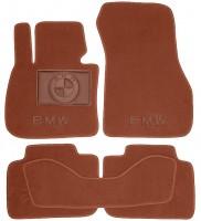 Коврики в салон для BMW X1 F48 '15- текстильные, терракотовые (Премиум)