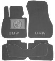 Коврики в салон для BMW X1 F48 '15- текстильные, серые (Премиум)