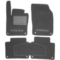 Коврики в салон для Volvo S90 '16- текстильные, серые (Премиум) 8 клипс