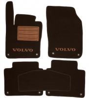 Коврики в салон для Volvo S90 '16- текстильные, коричневые (Премиум), 8 клипс