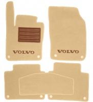 Коврики в салон для Volvo S90 '16- текстильные, бежевые (Премиум) 8 клипс