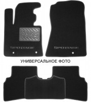 Коврики в салон для Kia Rio '17- текстильные, черные (Премиум) 3 клипсы