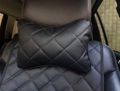 Подушка-подголовник черная, эко-кожа (АVторитет)
