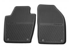 Коврики в салон передние для Skoda Fabia III '15-, резиновые, черные (VAG-Group) 6V1061551