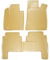Коврики в салон для Hyundai Santa Fe '06-10 CM полиуретановые, бежевые (Novline / Element)