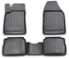 Коврики в салон для Opel Vectra C '02-08, универсал, полиуретановые, черные (Novline / Element)