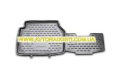 Фото 8 - Коврики в салон для Volkswagen Tiguan '07-16 полиуретановые, серые (Novline / Element)