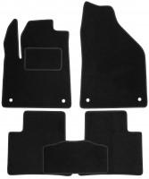 Коврики в салон для Jeep Cherokee '14- текстильные, черные (Стандарт)