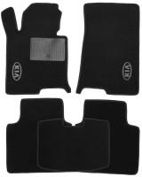 Коврики в салон для Kia Optima '16- текстильные, черные (Стандарт)