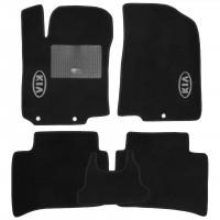 Коврики в салон для Kia Rio 2017 - текстильные, черные (Стандарт)