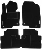 Коврики в салон для Mazda CX-5 2017 - текстильные, черные (Стандарт)
